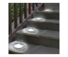 Lampa solara 8LED incastrabila in pamant 4 buc/pachet