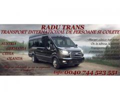 Transport persoane si pachete Radu Trans