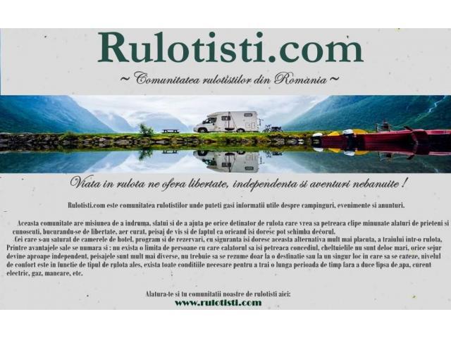 Comunitate rulotistilor din Romania Arges