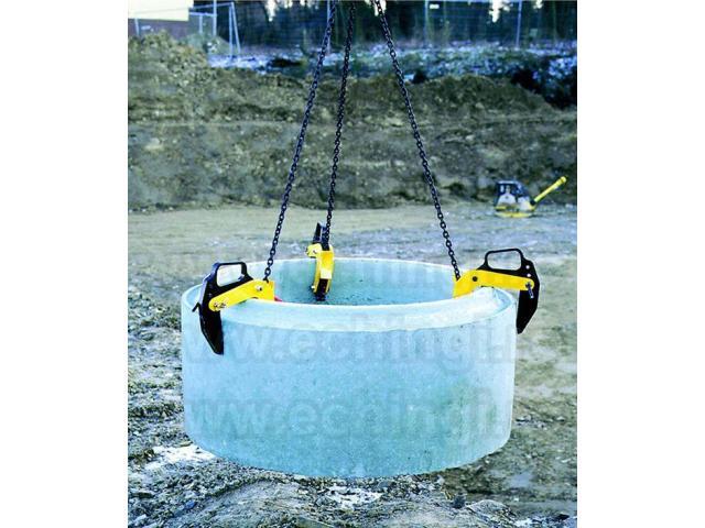 Clesti de ridicare tuburi de beton cu deschidere falci reglabile