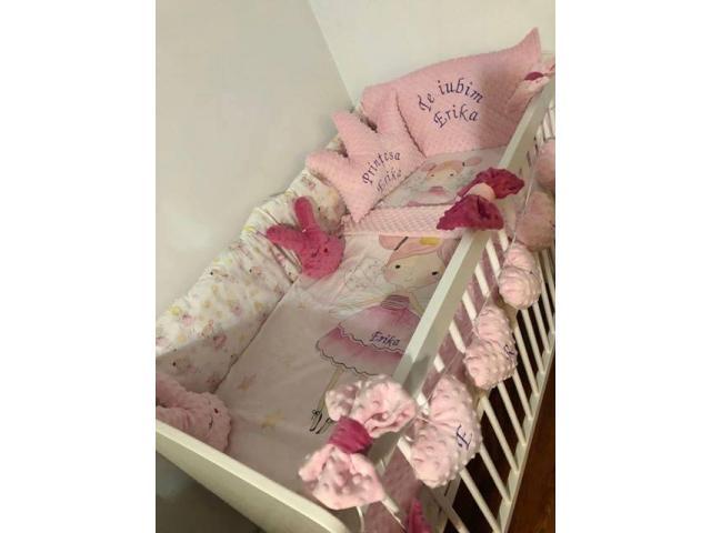 Realizam la comanda lenjerii pentru patuturi bebe si paturici 100% personalizate