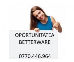 Castiga bani cu oportunitatea Betterware